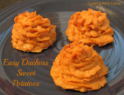 Easy Duchess Sweet Potatoes, shared by Cooking With Carlee