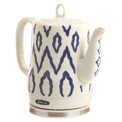 Bella White and Blue Print Porcelain Teapot from Target