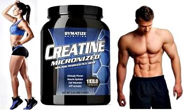 Creatina masa muscular hombres mujeres