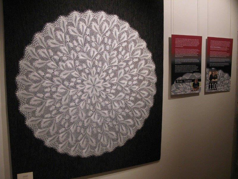 Gebreidesjaals mooie kantbrei ware breikunst tentoonstelling in talinn - Herbergt s werelds gordijnen ...