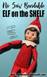 No Sew Bendable Elf on the Shelf Hack
