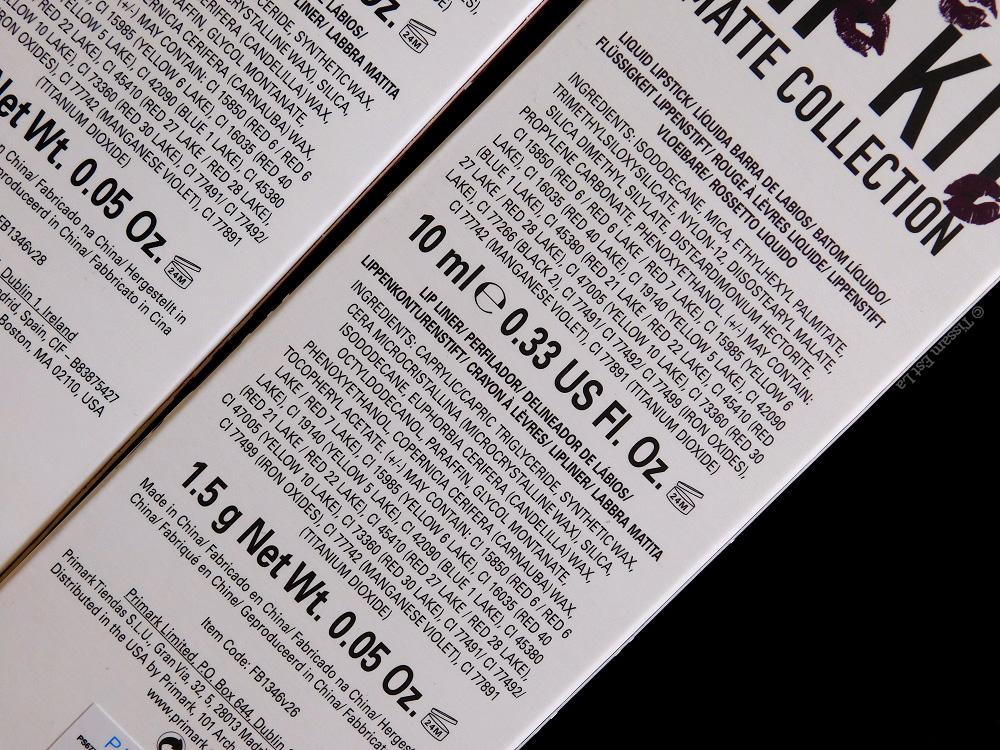 Primark PS...   Lip Kit Matte Collection - Riot, Punked & Lady In Red - Matte Liquid Lipstick & Lip Liner - Matte Rouge à lèvres liquide & crayon à lèvres - Swatches & Review - Avis et Revue - Chocolate Brownie - Molten Lava - Molten Bronze - Cookie Dough - Penneys - Swatch