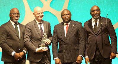 Photos: GOV. Ambode attends NFF AITEO Awards at Eko Hotels and Suites
