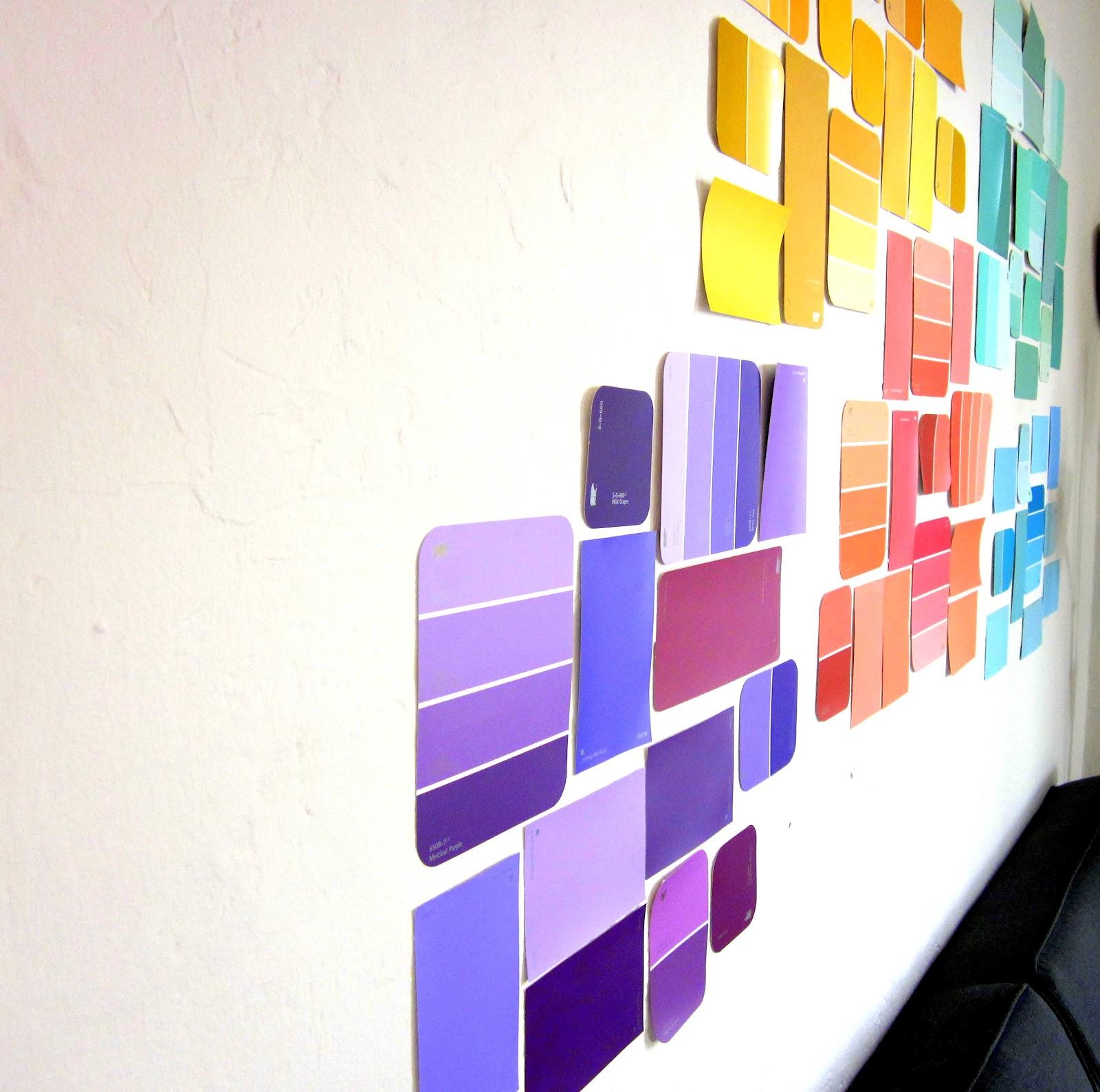 Paint Chip Wall Art & Just A Smidge: Paint Chip Wall Art