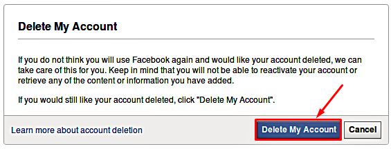 Delete my Facebook Account Permanently Fast