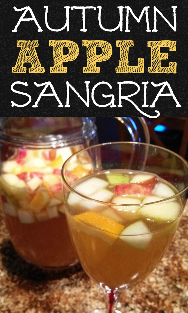 Wicked Autumn Apple Sangria! Perfect for Fall and Thanksgiving made with apples, pears, oranges and a little pinch of something special that will have guests begging for the recipe!