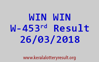 WIN WIN Lottery W 453 Results 26-03-2018
