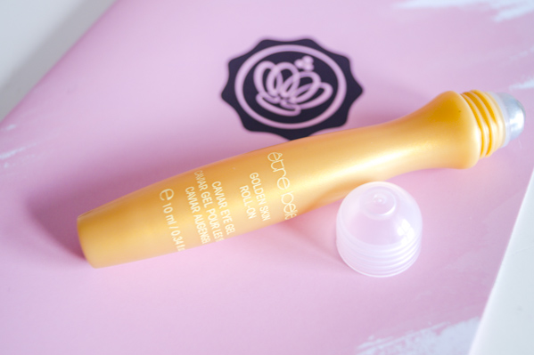 être belle cosmetics Golden skin roll-on caviar eye gel
