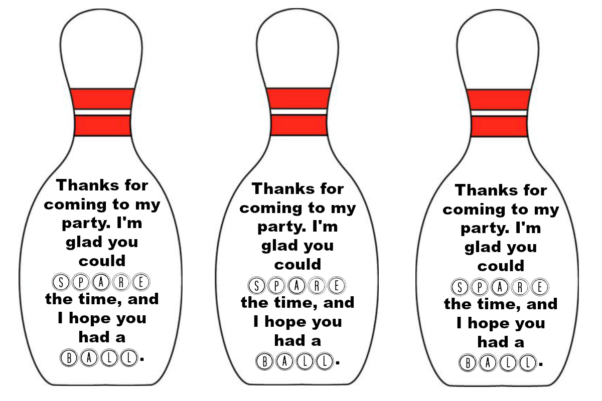 picture about Bowling Pin Printable known as East Coastline Mommy: Bowling Get together Favours with absolutely free