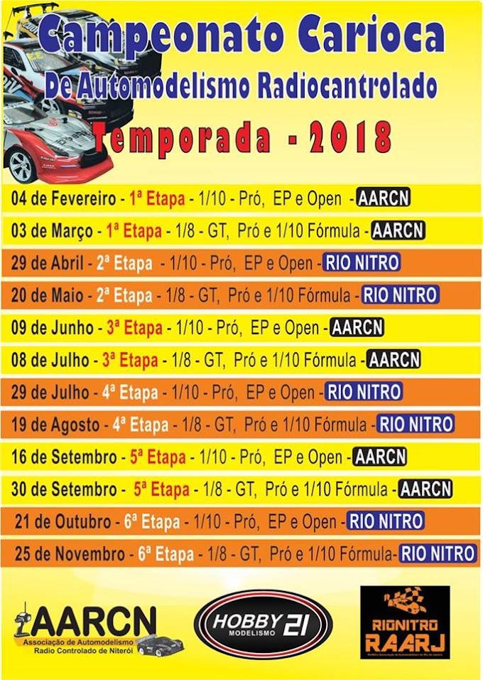 Calendário 2018 - Campeonato Carioca