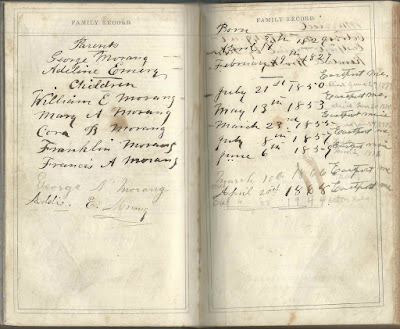 Family Bible of George and Adeline (Emery) Morang of Eastport, Maine