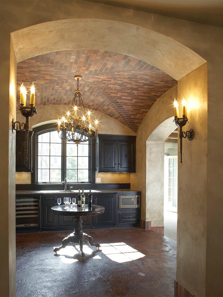 bolta din caramida, tavan cu caramida aparenta, ogiva, iedei cupole, profile decorative tavan