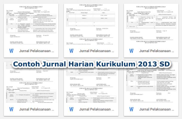 Contoh Jurnal Harian Pelaksanaan Pembelajaran Kurikulum 2013 SD Revisi 2019-2020