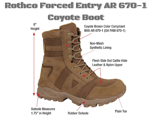 Forced Entry Ar 670 1 Coyote Tactical Boot Delta Survivalist