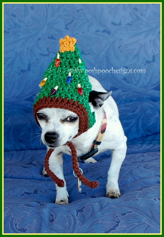 Posh Pooch Designs Dog Clothes Christmas Tree Dog Hat