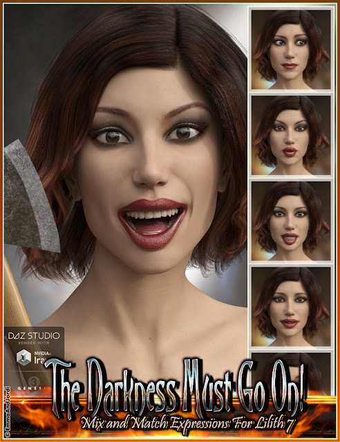 http://www.daz3d.com/the-darkness-must-go-on-mix-and-match-expressions-for-lilith-7-and-genesis-3-female-s