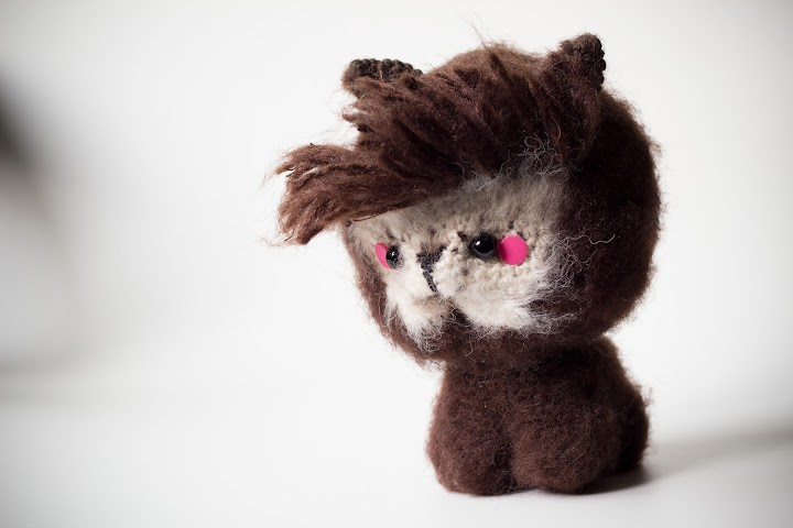 hair cut of the amigurumi alpaca