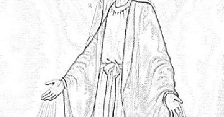Cristo Minha Certeza Imagem Nossa Senhora Das Gracas Para Colorir