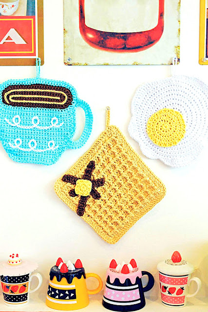Breakfast Dishcloths crochet pattern