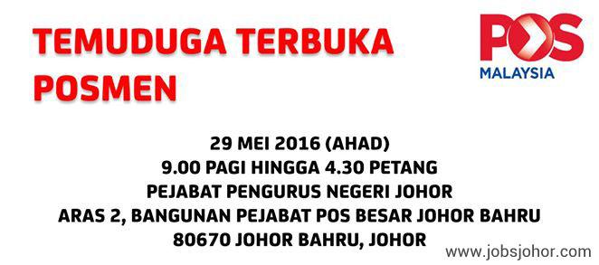 TEMUDUGA TERBUKA POS MALAYSIA 29 MEI 2016