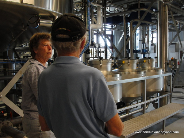 owner Barbara Groom leads tour at Lost Coast Brew House in Eureka, California