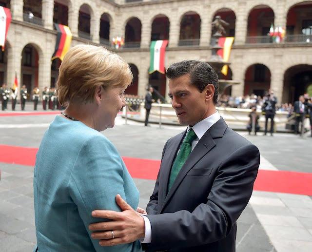 La visita de Angela Merkel a México costó 3.5 millones de pesos