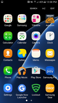 samsung galaxy s7 main menu