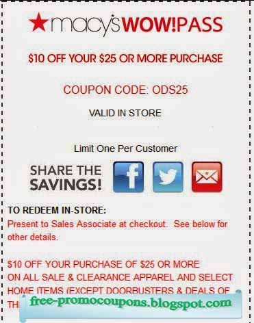 Macy online coupons 2018