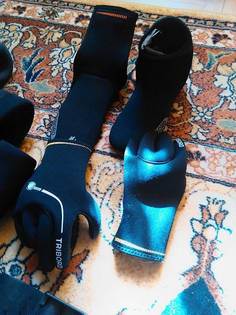 Rękawiczki Tribord BERO 3mm i Buty Tribord BEHEKO 5mm