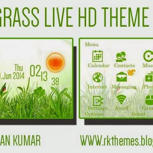 Grass Live HD Theme For Nokia c3-00,x2-01,asha200,201,205,210,302