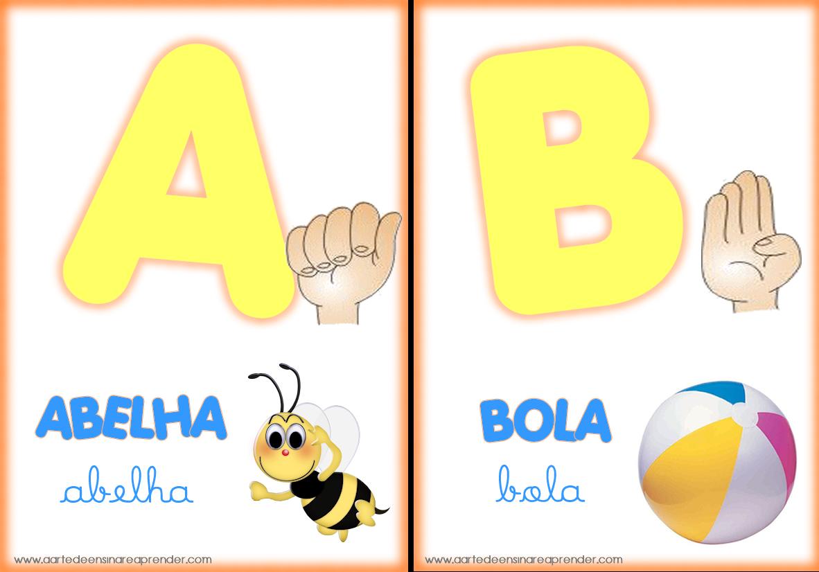 Alfabeto Ilustrado Com Libras A Arte De Ensinar E Aprender