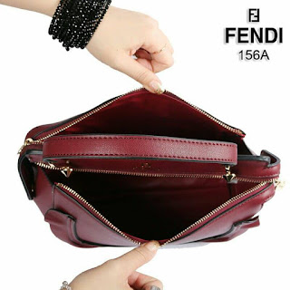 Fendi Dotcom Ruffle Bag 3in1 Smooth Leather