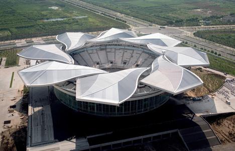 Architecture And Design Magnolia Tennis Stadium Shanghai China