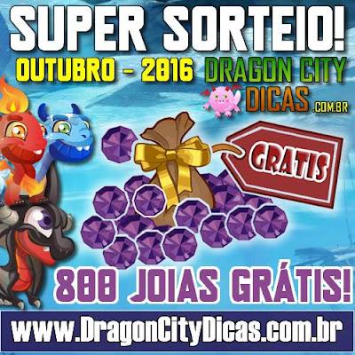 Super Sorteio de 800 Joias Grátis - Outubro 2016