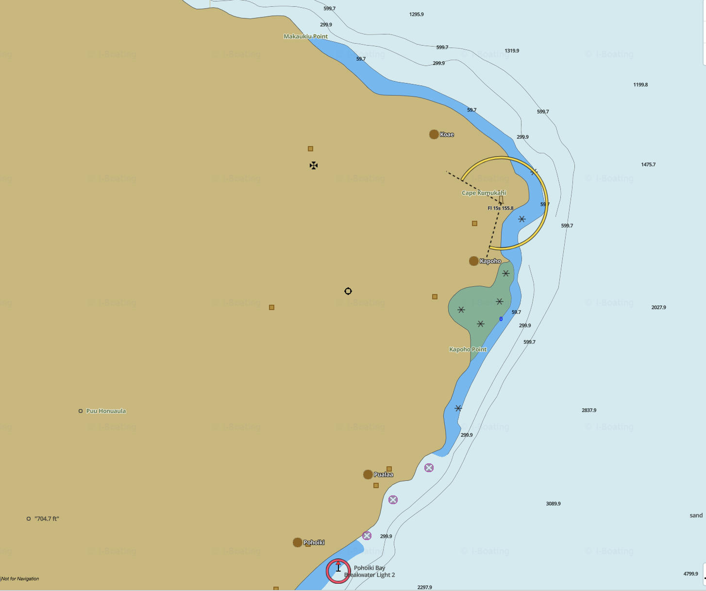 navigation chart of the puna coast
