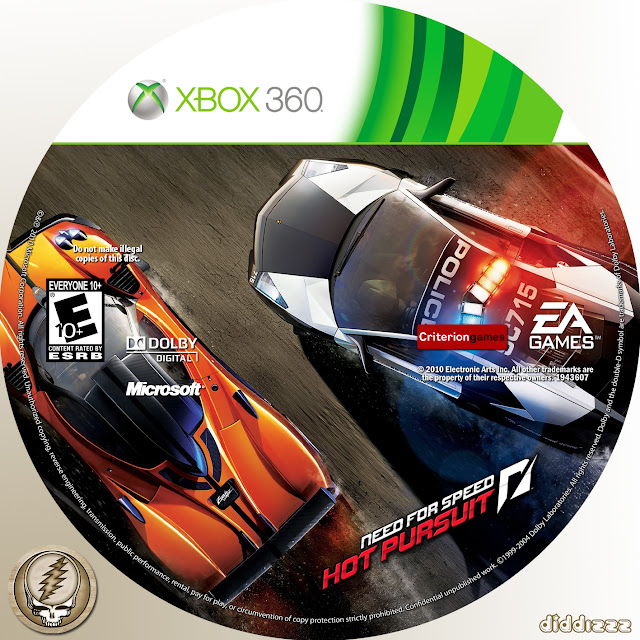 Label Need For Speed Hot Pursuit Xbox 360
