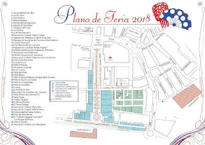Carmona - Feria 2018 - Plano del Recinto Ferial