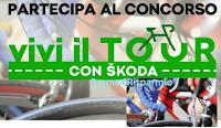 Logo Con Skoda vinci gratis articoli da ciclismo e il Tour de France