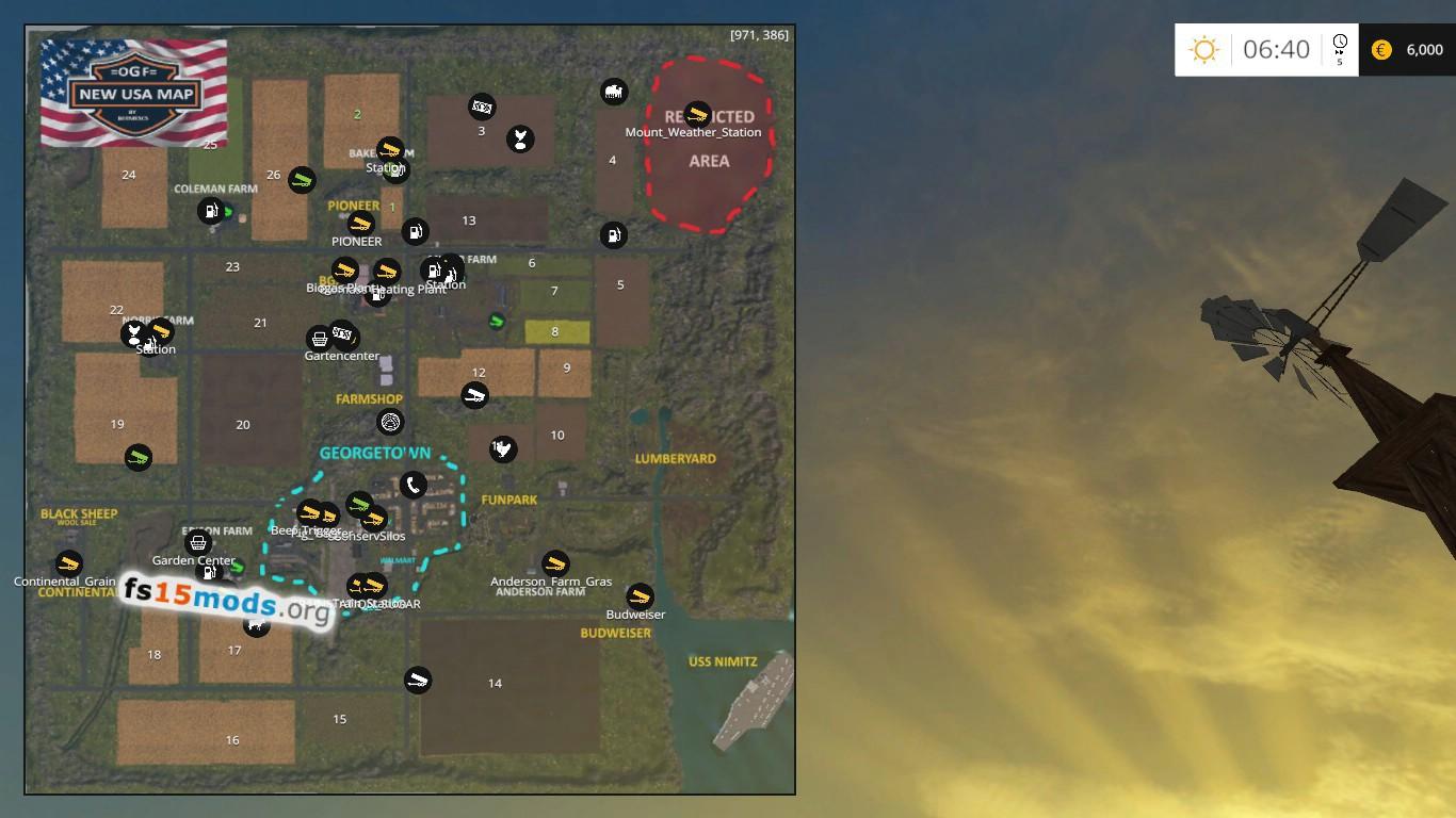 OGF USA Map FS Mods - Fs15 us maps