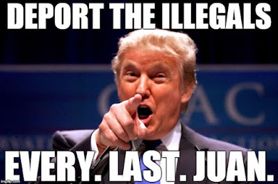 Donald Trump - deport the illegals funny meme picture
