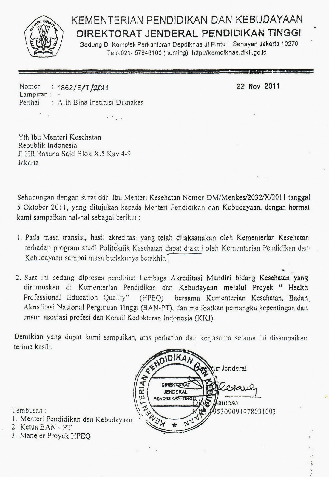 Contoh Surat Dinas Hanging Paragraph Detil Gambar Online