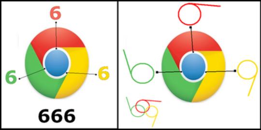 Encuentran el número 666 en logo de Google Chrome