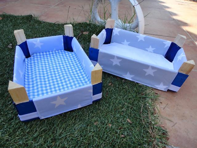 El taller de naid cajas de fresas decoradas con tela - Como forrar muebles con tela ...