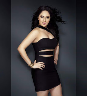 Nikesha Patel in Tight black Short Sleeveless Dress Stunning Confident Beauty
