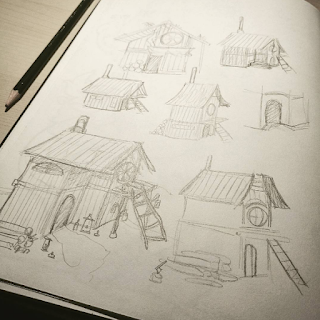 Wood cabin early design sheet