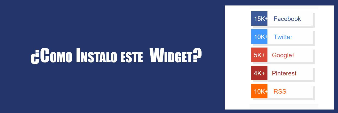 Instalar Widget en Blogger