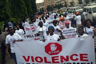 IN PICTURES: Another massive protest against Dino Melaye in Abuja