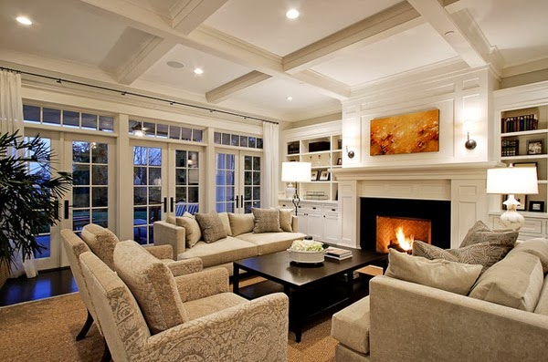 Traditional living room design modern style home - Traditional contemporary living room ...