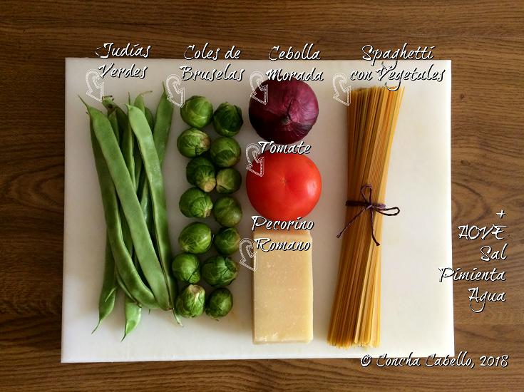 spaghetti-judías-coles-mise