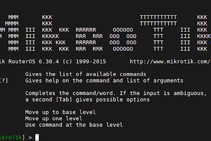 Cara Setting Router Mikrotik via Terminal